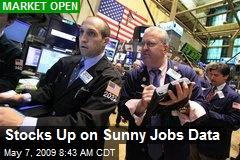 Stocks Up on Sunny Jobs Data