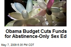 Obama Budget Cuts Funds for Abstinence-Only Sex Ed