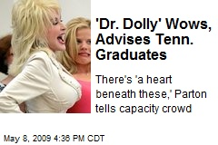 'Dr. Dolly' Wows, Advises Tenn. Graduates