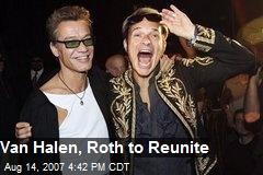 Van Halen, Roth to Reunite