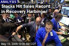 Stocks Hit Sales Record in Recovery Harbinger