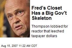 Fred's Closet Has a Big Gov't Skeleton