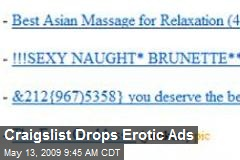 Craigslist Drops Erotic Ads