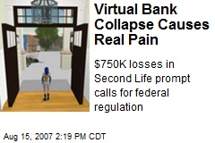 Virtual Bank Collapse Causes Real Pain