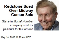 Redstone Sued Over Midway Games Sale