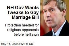 NH Gov Wants Tweaks to Gay Marriage Bill