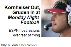 Kornheiser Out, Gruden In at Monday Night Football