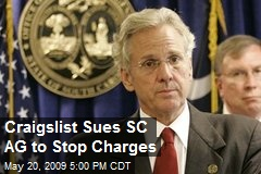 Craigslist Sues SC AG to Stop Charges