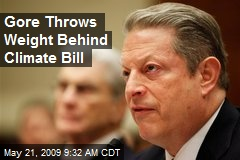 Gore Throws Weight Behind Climate Bill
