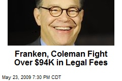 Franken, Coleman Fight Over $94K in Legal Fees