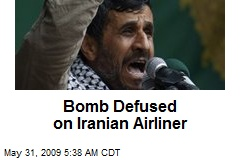 Bomb Defused on Iranian Airliner