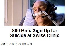 800 Brits Sign Up for Suicide at Swiss Clinic