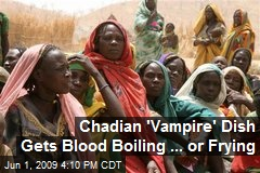 Chadian 'Vampire' Dish Gets Blood Boiling ... or Frying