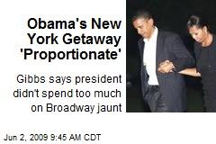 Obama's New York Getaway 'Proportionate'