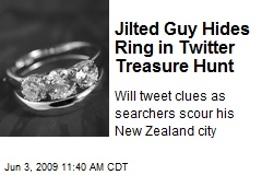 Jilted Guy Hides Ring in Twitter Treasure Hunt