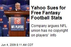 Yahoo Sues for Free Fantasy Football Stats