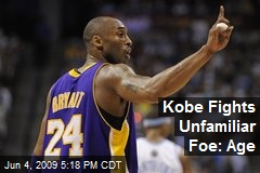 Kobe Fights Unfamiliar Foe: Age