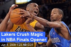 Lakers Crush Magic in NBA Finals Opener