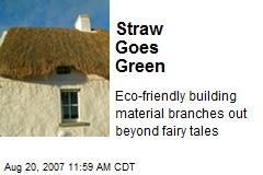 Straw Goes Green