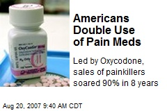 Americans Double Use of Pain Meds
