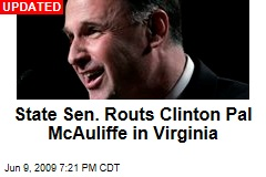 State Sen. Routs Clinton Pal McAuliffe in Virginia
