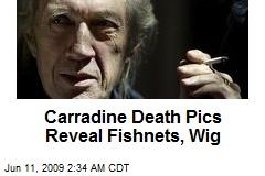 Carradine Death Pics Reveal Fishnets, Wig