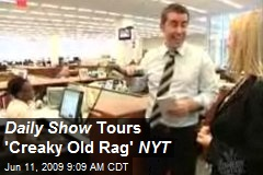 Daily Show Tours 'Creaky Old Rag' NYT