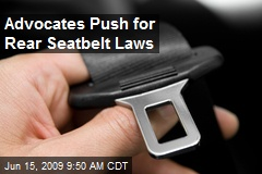 Advocates Push for Rear Seatbelt Laws