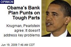 Obama's Bank Plan Punts on Tough Parts