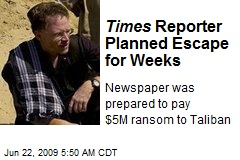 Times Reporter Planned Escape for Weeks