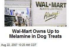 Wal-Mart Owns Up to Melamine in Dog Treats
