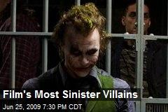 Film's Most Sinister Villains