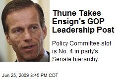 Thune Takes Ensign's GOP Leadership Post