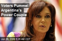 Voters Pummel Argentina's Power Couple