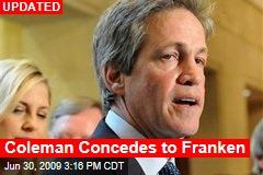 Coleman Concedes to Franken