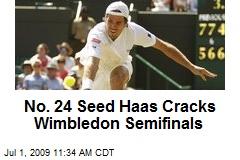 No. 24 Seed Haas Cracks Wimbledon Semifinals