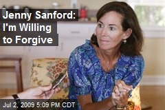 Jenny Sanford: I'm Willing to Forgive