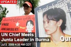 UN Chief Meets Junta Leader in Burma