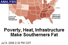 Poverty, Heat, Infrastructure Make Southerners Fat