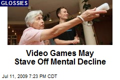 Video Games May Stave Off Mental Decline