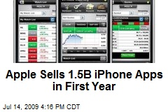 Apple Sells 1.5B iPhone Apps in First Year