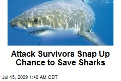 Attack Survivors Snap Up Chance to Save Sharks