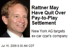 Rattner May Have Quit Over Pay-to-Play Settlement