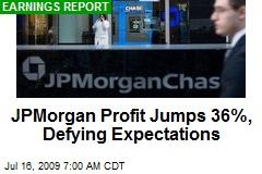 JPMorgan Profit Jumps 36%, Defying Expectations