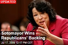 Sotomayor Wins Republicans' Backing
