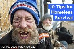 10 Tips for Homeless Survival
