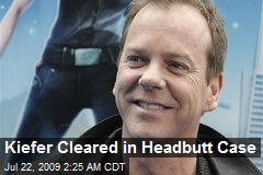 Kiefer Cleared in Headbutt Case
