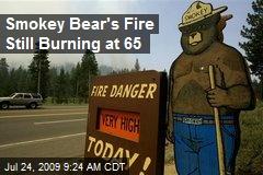 Smokey Bear's Fire Still Burning at 65