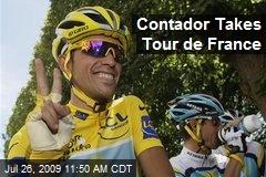 Contador Takes Tour de France