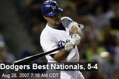 Dodgers Best Nationals, 5-4